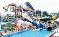 Fiberglass Commercial Playground Equipment Long Funny For Aqua Fun Park