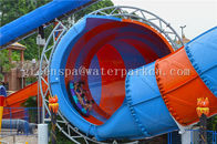 Aqua Water World Combination Water Slide / Open Spiral Slide Fiberglass Material