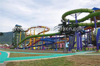 Outdoor Kids Water Play Aqua Park Equipment Amusement Ride / Water Slides For Pools
