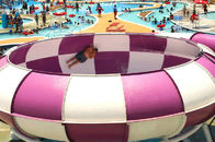 Super Bowl Fiberglass big Space Bowl water Slide for Kids Aqua Fun theme water equipment
