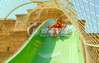 Red / Green Water Park Resort Fiberglass Water Slides , Customized