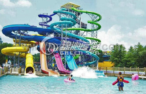Outdoor Children Fiberglass Water Pool High Speed Body Slides Equipment