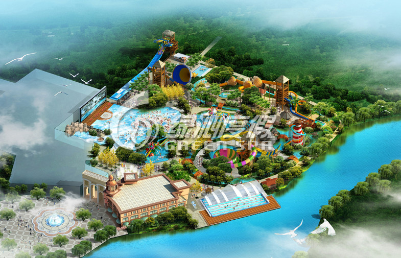 Professional Giant Water Park Conceptual Design , Customized outdoor water park resorts