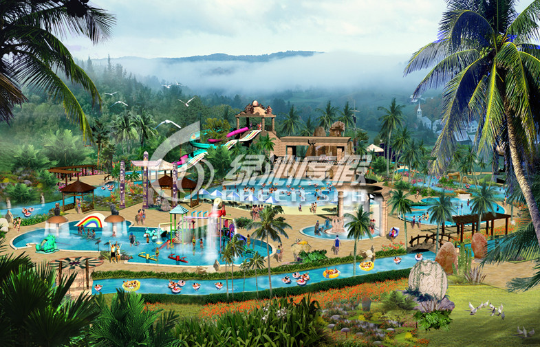 Commercial Water Park Project for Holiday Resort and Spray Park , Customized
