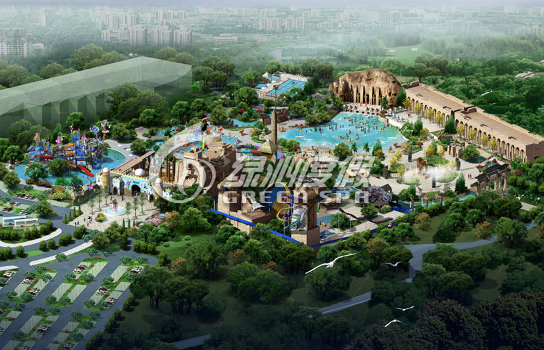 Indoor Giant Water Park Project with water house For Commercial