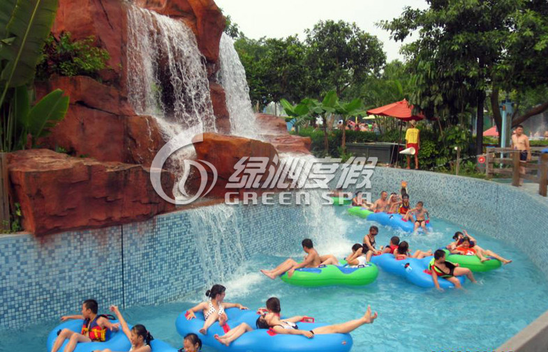 Design Wave Outdoor Water Park Lazy River for Holiday Resort and Amusement Park