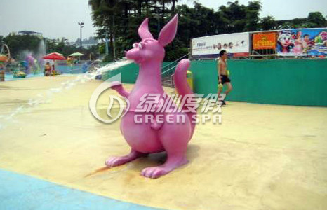 Commercial Aqua Park Equipment Lovely Kangaroo Spray for Holiday Resort